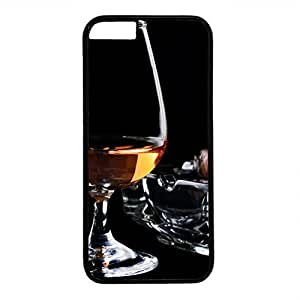 Hard Back Cover Case for iphone 6,Cool Fashion Black PC Shell Skin for iphone 6 with Brandy And Cigar