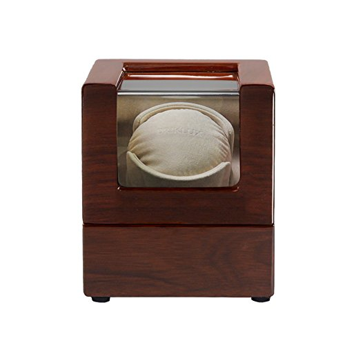 L.HPT Single Watch Winder with Quiet Motor-12 Rotation Modes-[Upgrades] Watch Winder for Rolex ()