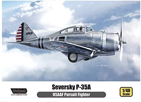 ウルフパックデザイン 1/48 アメリカ陸軍航空隊 セバスキー P-35A プレミアムエディションキット プラモデル WOLWP