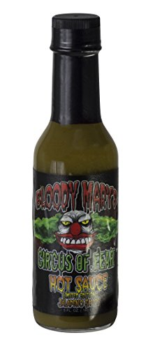 Hot Sauce By Bloody Mary - Hottest Chilli Pepper Sauce - Add Unique Flavors To Your Meals - Unique Skull Label Bottle - Ideal Gift For Cooking Enthusiasts (Jalapeno) 5 Oz
