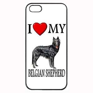Custom Belgian Shepherd I Love My Dog Photo iPhone 4 4S Case Cover Hard Shell Back