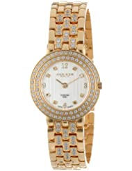 Akribos XXIV Womens AK598YG Gold-Tone Impeccable Diamond Swiss Quartz Bracelet Watch