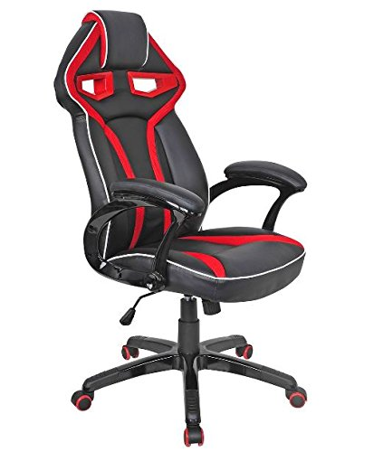 411vBTreDiL - KA-Company-Chair-Style-High-Back-Gaming-Racing-Ergonomic-Office-Leather-Pu-Swivel-Computer-Executive-360-Degree-5-Wheels-Mesh-Bucket-Seat-Red