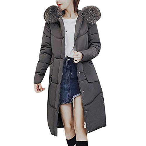 Fashion Limsea Women Padded Coat Winter Thicken Faux Fur Hooded Warm (Grey,Large) for $<!--$45.37-->