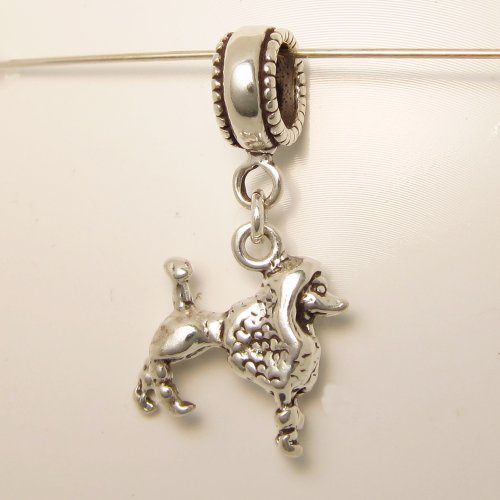 Poodle Sterling Silver Dangle Dog Charms