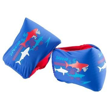 Speedo Kids Begin to Swim Level 2 Fabric Armbands - Blue Sharks by Speedo