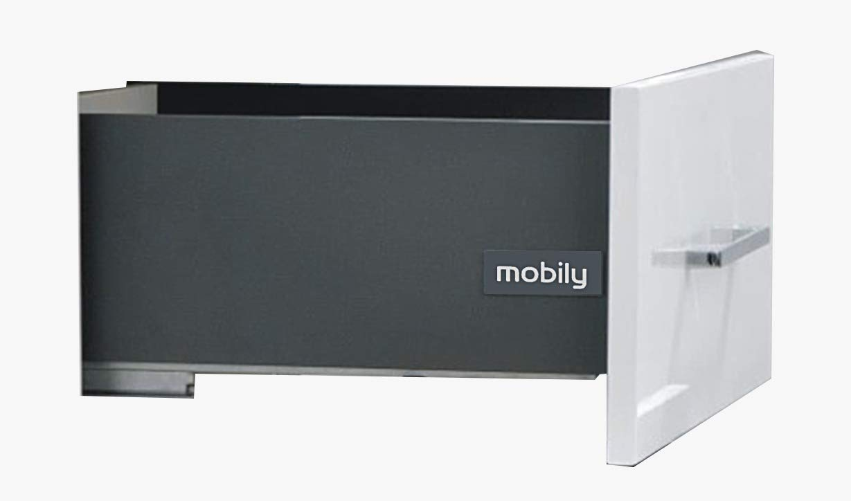Mobily Tandem/Innotech Slim Drawer Box (68/95 mm, H 4 inches/D 20 inch,  Grey): Amazon.in: Home Improvement