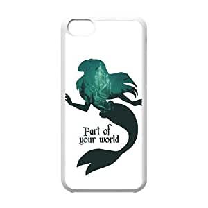 iphone5c phone case White Ariel - Part of your world XXD0013744