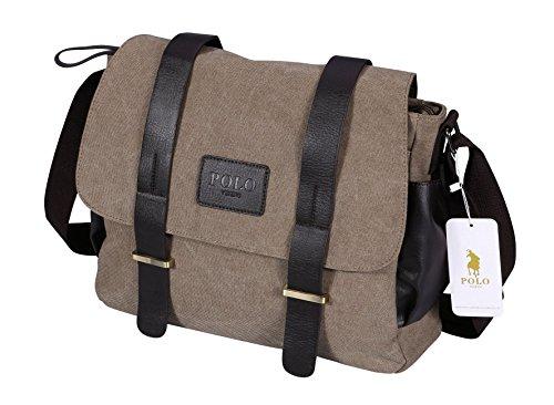 Cool Little Camera Case (VIDENG POLO Mens Messenger Bag Vintage Canvas Duffel Bag Shoulder Bag Gym Bag Travel Handbag (Khahi-04))
