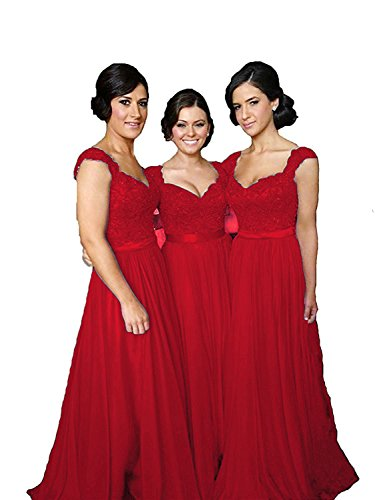 Red wedding dress with sleeve