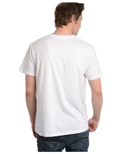 G Zap Men's San Francisco Graphic V-Neck Cotton T-Shirt Top(MENTOP-CAS,WHT-L)