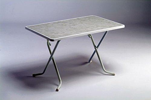 Alco Mesa 110x70 cm-mármol-blanco R23BMAR: Amazon.es: Jardín