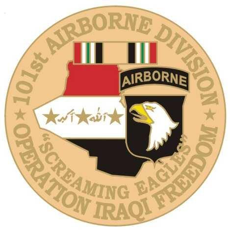 MilitaryBest 101st Airborne 1 1/8 Operation Iraqi Freedom Lapel Pin