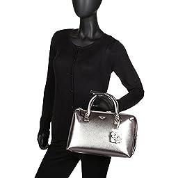 GUESS Women\'s Liya Satchel Pewter Handbag