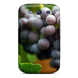 Tpu Sundaypie Shockproof Scratcheproof Food And Drink Grapes Hard Case Cover For Galaxy S3