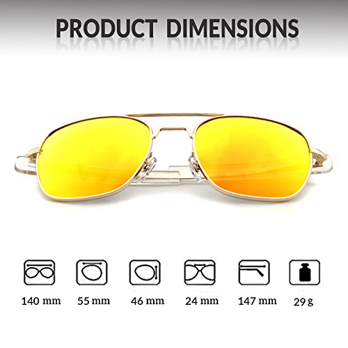 Gold Sunglasses Polarized Outdoor Lens Sports Men Frame UV400 Red Protection ADEWU for Goggles 100 FRd57Rqx