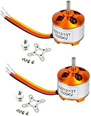 XXD A2212/13T KV1000 Outrunner Brushless Motor with 3.17/5mm Bullet Propeller Adapter for RC Aircraft Four Axis Multicopter Quadcopter Parts(Pack of 2pcs)