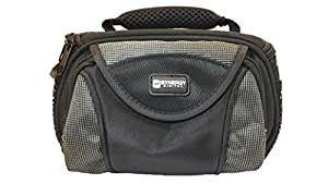 JVC GZ-E100 Camcorder Case Camcorder and Digital Camera Case - Carry Handle & Adjustable Shoulder Strap - Black / Grey - Replacement by Synergy