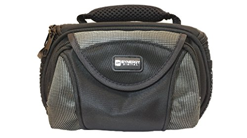 Sony HDR-CX405/B Camcorder Case Camcorder and Digital Camera Case - Carry Handle & Adjustable Shoulder Strap - Black / Grey - Replacement by Synergy (Camcorder Case Bag)