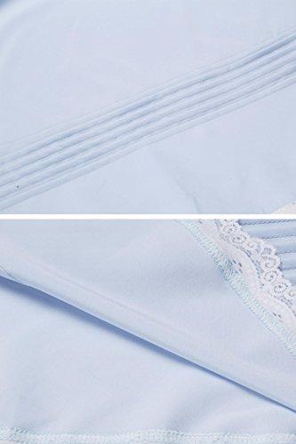 notte Camicia Donna da EKOUAER Blau EB8qxnw