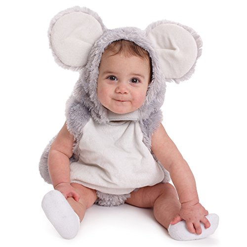 Dress Up America Infant Toddlers Baby Squeaky Mouse Halloween Pretend Play Costume -