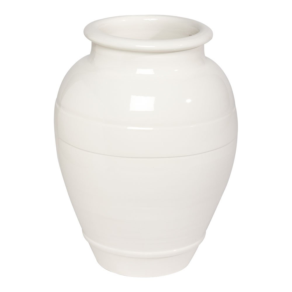 Ethan Allen Ivory Ringed Vase, Small by Ethan Allen