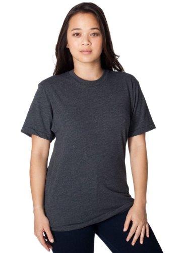 American Apparel Unisex 50/50 Heather/Black Short Sleeve T-Shirt XL