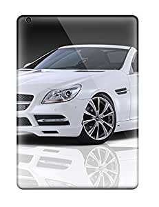 Ipad Air Hard Back With Bumper Silicone Gel Tpu Case Cover White Slk Front Angle Benz Cars Mercedes