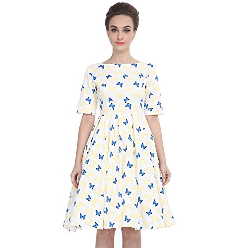 Heroecol Vintage 1950s 50s Dress Hepburn Style Retro