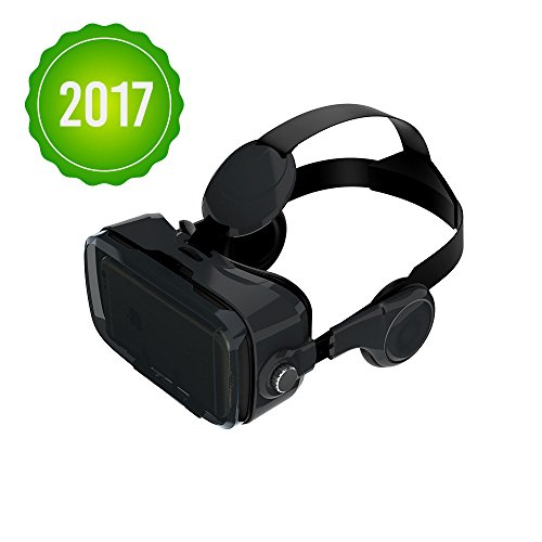 Owl BOBOVR Z4 with HEAD STRAP AND HEADPHONES Google Cardboard VR Headset for smartphones up to 6 inches iPhone, Samsung Galaxy (Black) by OWL