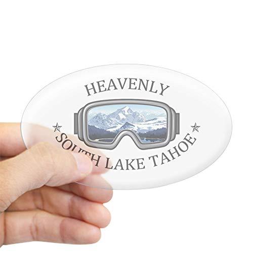 CafePress Heavenly Ski Resort South Lake Tahoe Sticker Oval Bumper Sticker, Euro Oval Car Decal (Lake Tahoe Heavenly)