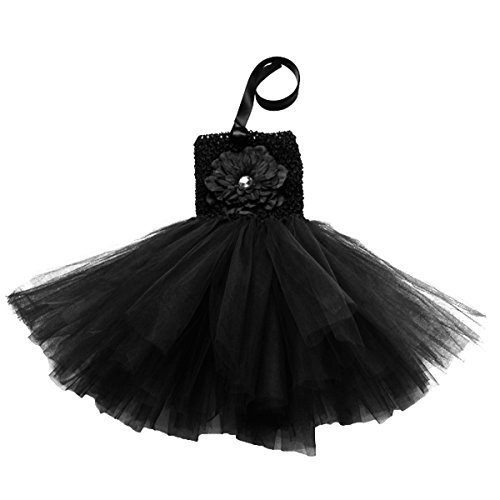 Buenos Ninos Baby Girls TUTU Dress Crochet Tube Top Baby Pettiskirt (Black) (Dress Crocheted Girls)