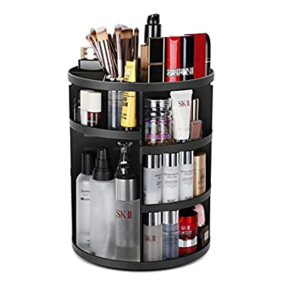 Syntus 360 Rotating Makeup Organizer, DIY Adjustable Bathroom Makeup Carousel Spinning Holder Rack, Large Capacity…