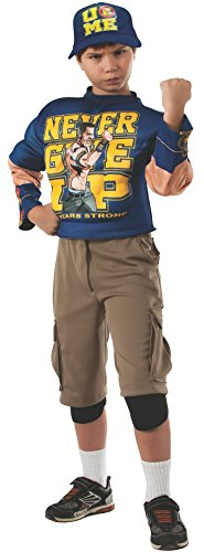 Rubies WWE Deluxe Muscle-Chest John Cena Costume, Medium (8-10)]()