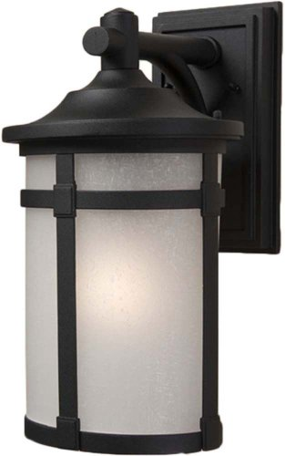 Artcraft Lighting St. Moritz Small Outdoor Wall Mount, Black - Artcraft Lighting