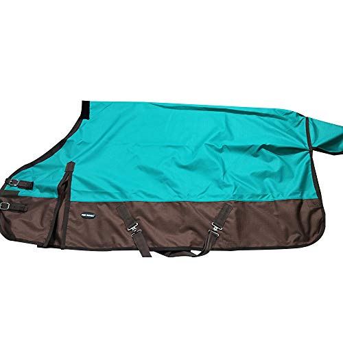 """(TGW RIDING 600 Denier Waterproof and Breathable Horse Turnout Sheet 84"""" (84, Turquoise))"""