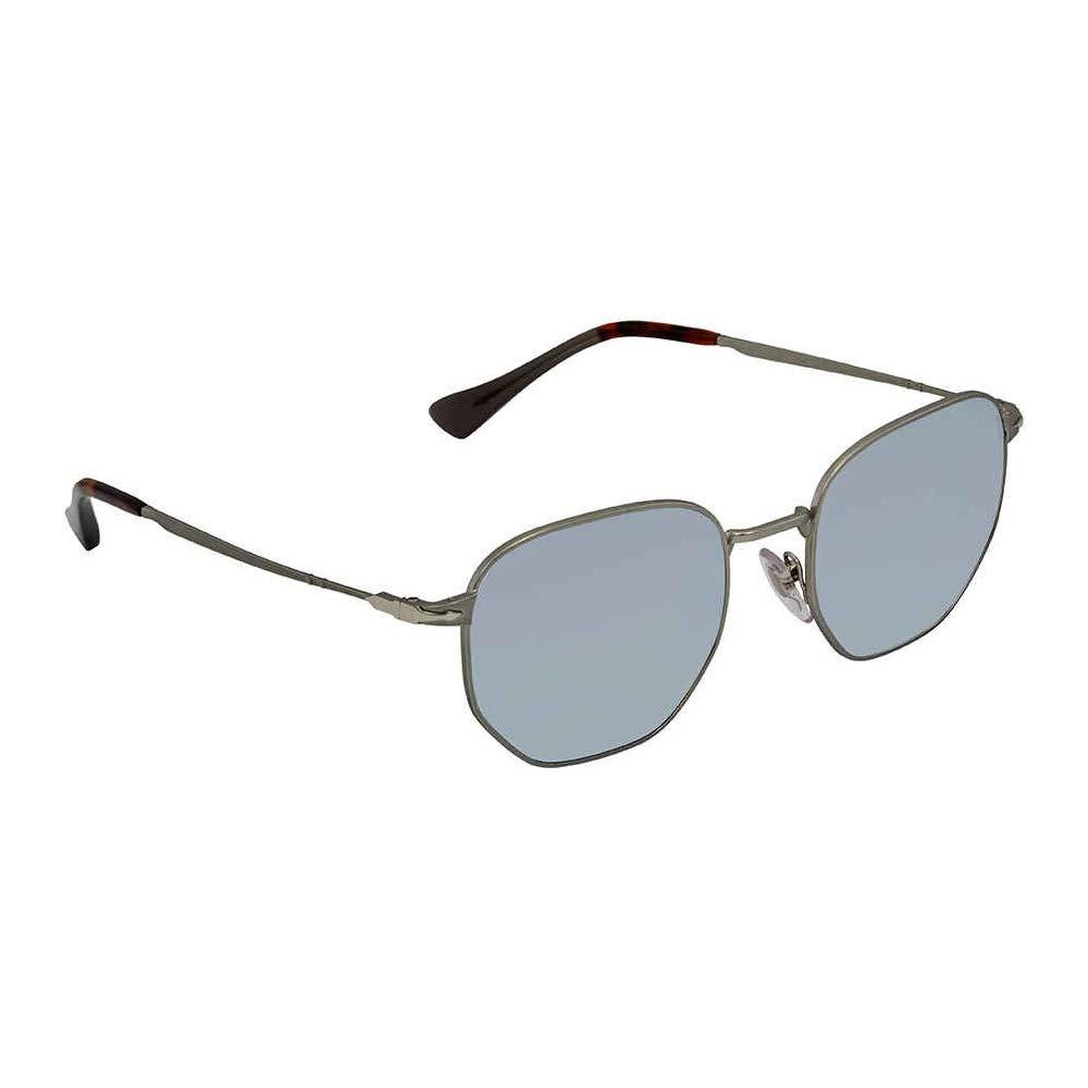 2433a331e49 Persol Men s PO2446S Sunglasses Demi Gloss Gunmetal Light Green Mirror  Silver 52mm at Amazon Men s Clothing store