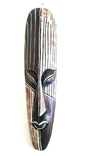 Decorative African Wood (African Mask Wall Hanging Decor Luck and Fortune Statue Mask - LARGE 20
