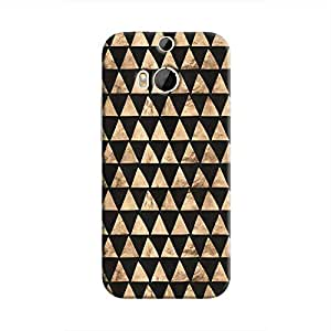 Cover It Up - Brown Black Triangle Tile One M9 Plus Hard Case