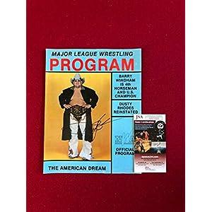 "1988, Dusty Rhodes,""Autographed""(),""Major League Wrestling Program"" (Scarce) JSA Certified Autographed MLB Magazines"