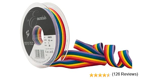 Berisfords Cinta a Rayas Arco Iris 15 mm, Multicolor: Amazon.es: Hogar