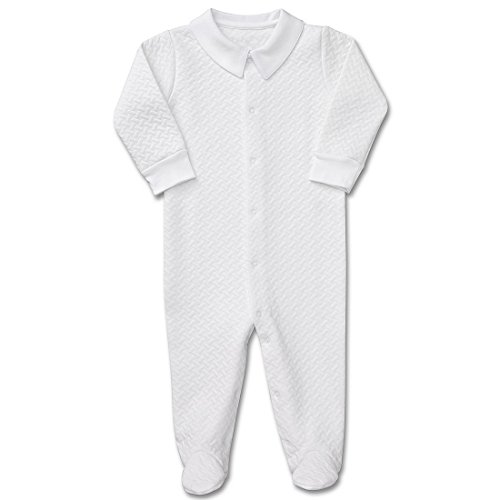 Kelsey MacLean Unisex Baby Quilted Layette Footie White 6-9M (White Layette)