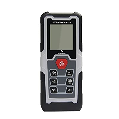 Laser Distance Measure, Prostormer Digital Laser Distance Meter with Pythagorean Mode and LCD Backlit, Mini Portable Measuring Tool for Distance, Area and Volume