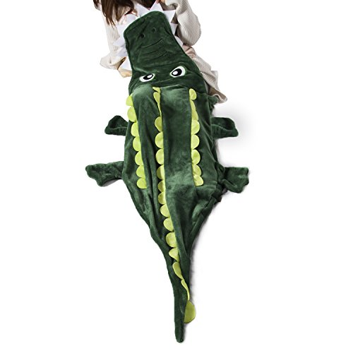 Ataya Crocodile Snuggie Blanket for Kids, Fit 3-10 Years Old, Ultra Soft Flannel Fleece All Seasons Aligator Design Sleeping Blanket,Best Gifts for (Gifts For Sleeping)