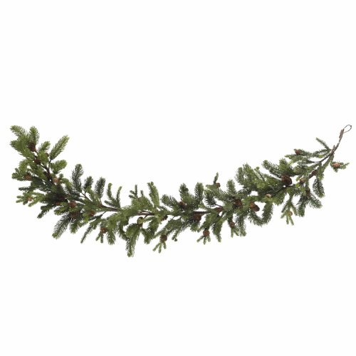 Nearly Natural 4918 Pine and Pinecone Garland, 60-Inch, Green (Christmas Garland Banister)