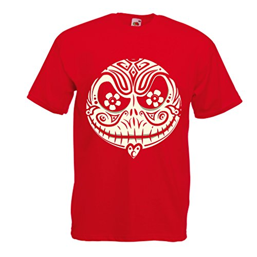 T shirts for men The Skull Face -The nightmare - scary Halloween night (XX-Large Red Multi Color)