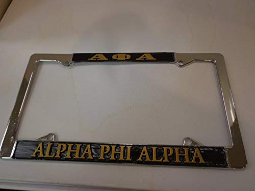 Alpha Phi Alpha Silver License Plate
