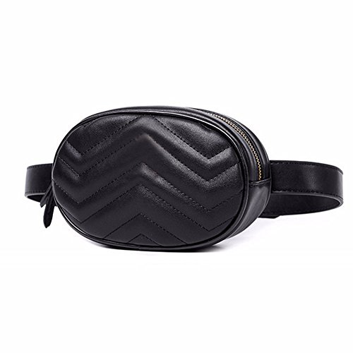Women Waist Packs Travel Elegant PU Leather Waist Bag Phone Pouch Small Belts Bag Fashion Fanny Packs White Cross Body Bags