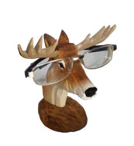 WisdomCraft Handmade Wooden Eyeglass Holder-deer