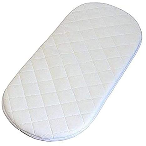 69 x 32 x 3 cm All Sizes Oval Shaped Round Corners Soft Moses Basket//PRAM Quilted MATTRESSES